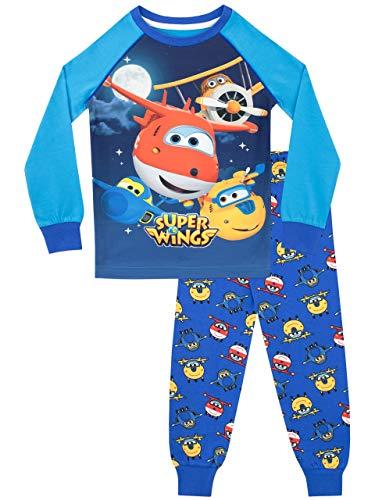 Super Wings Jungen Jett und Donnie Schlafanzug Slim Fit Mehrfarbig 110