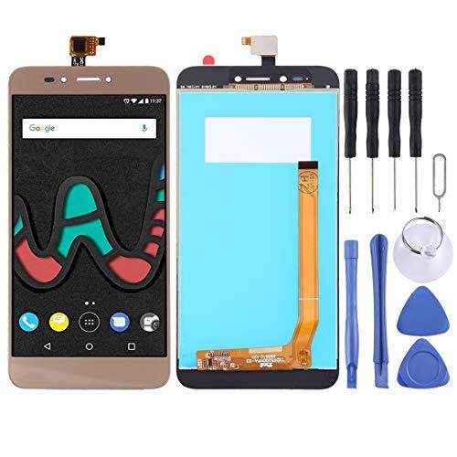 un known Pantalla LCD y digitalizador de montaje completo para Wiko U Pulse Lite accesorios de repuesto de herramientas de prueba (color: dorado)