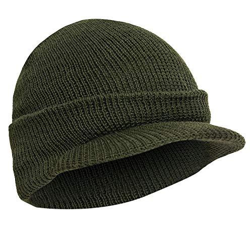 Genuine G.I. Wool Radar Cap, Olive Drab