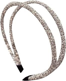 Women's Crystal Rhinestone Handmade Headband,Suma-ma Girls Pearl Headband Bridal Wedding Party Hair Accessories