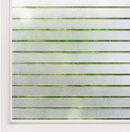 havalime Premium Fensterfolie, Sichtschutz, Milchglas, matt satiniert, statische Folie, selbsthaftend ohne Klebstoff, bietet UV-Schutz, Privatsphäre (200 x 45 cm Streifen)