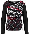 Gerry Weber 270249-35050 Camiseta, Multicolor (Schwarz/Offwhite/Nougat 1102), 42 (Talla del Fabricante: 40) para Mujer