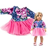 American Girls Ropa - Vestido de Lace para American Girl 18 Pulgadas - Muñecas Fashion y Accesorios Doll Ropa Set (Morado)
