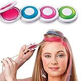 Allbestaye 4pcs Hair Chalk Set 4 Haarfarbe Kinder/Jugendliche DIY Haarkreide Haartönung Disposable...