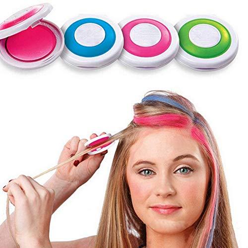 Allbestaye 4pcs Hair Chalk Set 4 Haarfarbe Kinder/Jugendliche DIY Haarkreide Haartönung Disposable Haarfärbemittel Salon