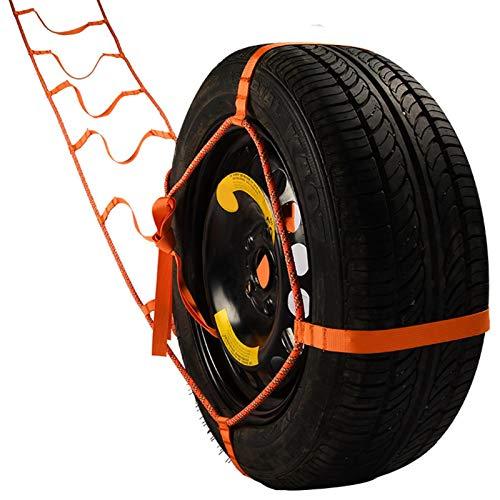 Cadenas de nieve para coche, universales para neumáticos, antideslizantes, portátil, correa de cabrestante de remolque para neumáticos