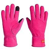 Guanti sportivi leggeri, guanti da corsa, guanti invernali per scaldarsi, adatti al touch screen - rosa - Small/Medium