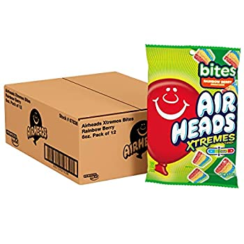 Airheads Xtremes Bites Sweetly Sour Candy Rainbow Berry Non Melting Bulk Party Bag 6 oz  Pack of 12