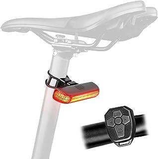 comprar comparacion DONPEREGRINO Bx – 100 Lúmenes LED Luz Trasera Bicicleta con Control Remoto, Luz de Giro Recargable & Luz Freno Bici con Mo...