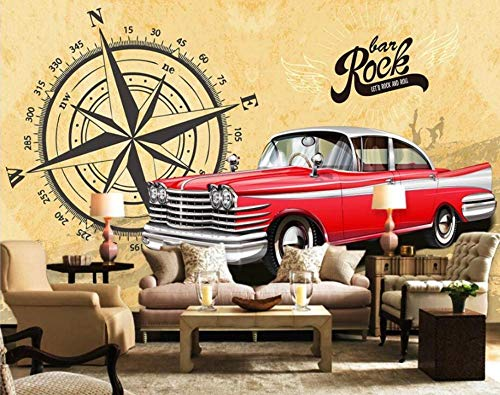 3d wall murals wallpaper for living room Modern minimalist red classic car background home decor photo wallpaper for walls 3 d-300 * 210cm