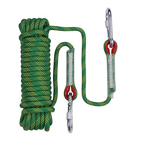 Al aire libre cuerda de escalada 20M 13mm de diámetro durable cuerda de múltiples funciones de seguridad utilizados for la escalada Cuevas, camping rescate, exploración y Protección Ingeniería, Amaril