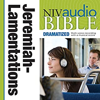 Dramatized Audio Bible - New International Version, NIV: (22) Jeremiah and Lamentations audiobook cover art