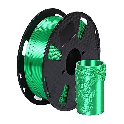 Silk Jade Green PLA 3D Printer Filament 1.75mm 1KG 2.2 LBS Spool 3D Printing Material CC3D Shine Silky Shiny Metallic Metal Gold Silver Copper Bronze PLA Filament