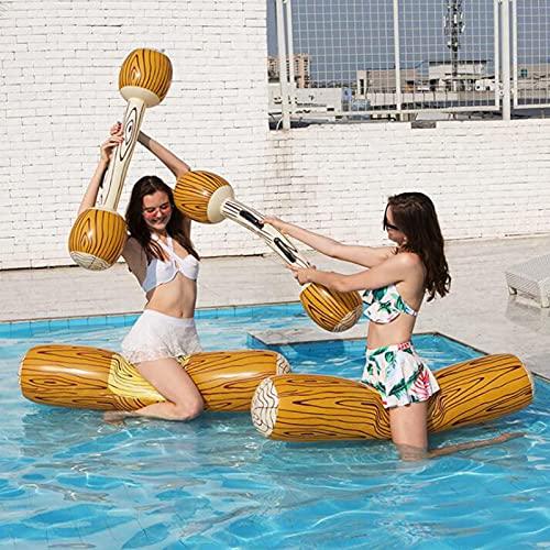 CHQY Juego DE 2 Pista DE LOS Juguetes DE Fila DE Fila Inflable Inflable DE Verano, Piscina para niños Adultos Juegos de Deportes de Agua de la Fiesta de la balsa Original