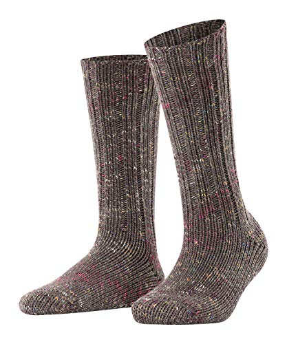 ESPRIT Damen Cozy Boot Socken, grau (light grey mel. 3390), 39-42