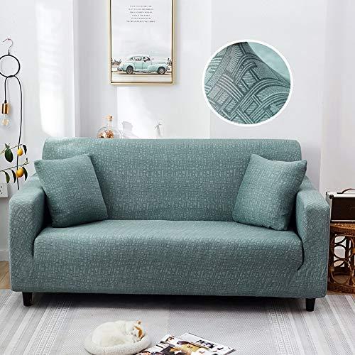 ASCV Fundas de sofá elásticas para Sala de Estar Funda de sofá con patrón Cruzado Moderno para sofá de Diferentes Formas Funda de sofá Estilo L A3 4 plazas