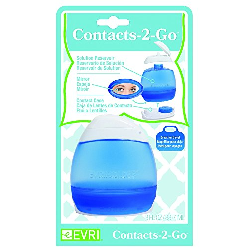 Kit Porta Lente de Contato Plástico Evriholder Azul/Branco