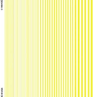 Stripes yellow Dry Transfer Decals Woodland Scenics