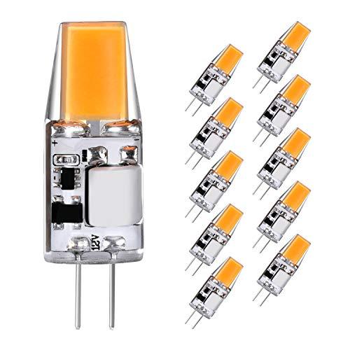 2er-set lámparas LED 1,2 W blanco cálido g4 gu4 12v 70 lúmenes