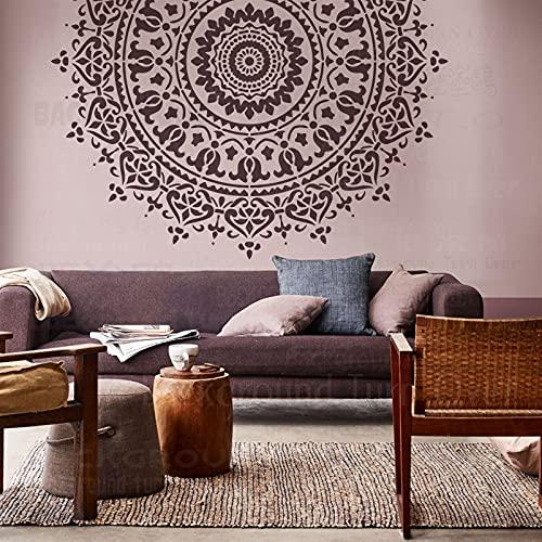 220cm Huge Giant Mandala Ceiling Indian Arabic Ethnic Round Plantilla Para Paredes Pintura De Mandala Grande Plantillas Grandes Marcos De Decoración Patrón De Muebles Las Semillas Decoración