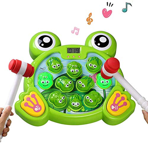 Felly Juguetes Niños 3 Años Educativos, Martillo Juguete Juego de Rana Interactivo con 2 Martillos, Juguete Musical Montessori Juegos Regalo para Niños y Niñas 3 4 5 6 7 Años