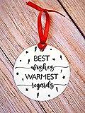 Brand Free Best Wishes Warmest Regards Christmas Ornament, David Rose, Alexis Rose, Moira, Schitt's Fan Gift Idea, Creek, Ew David, Rose Fam Ornaments -  RichInll
