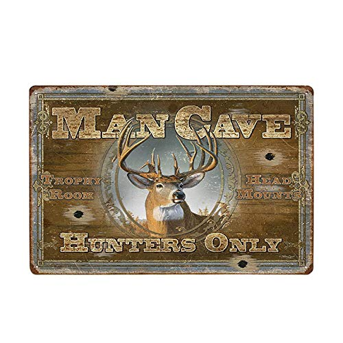 bestmugcupSS Man Cave Rule Metal Tin Sign Vintage Bar Wall Painting Plaque Art Poster Home Decor 7
