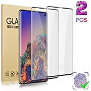 [2 Pack] Galaxy S10 (6.1 inch) Screen Protector, [Lifetime Replacement Warranty] [3D Curved] [Anti-Scratch] [High Definition] Tempered Glass Protective Film Suitable for Samsung Galaxy S10