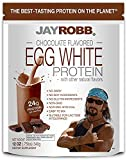 Jay Robb Chocolate Egg White Protein Powder, Low Carb, Keto, Vegetarian, Gluten Free, Lactose Free, No Sugar Added, No Fat, No Soy, Nothing Artificial, Non-GMO, Best-Tasting, (12 oz, Chocolate)