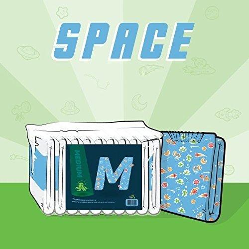 ABU Space Windeln, Windeln mit Weltraum-Motiv, 10 Stück