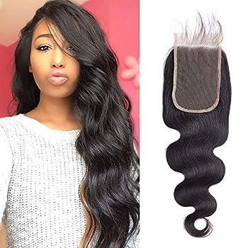 9A Brazilian Hair Body Wave Lace Closure Brazilian Virgin Human Hair 4x6 Lace Closure Free Part Natural Black  10Inch 4x6 Lace closure