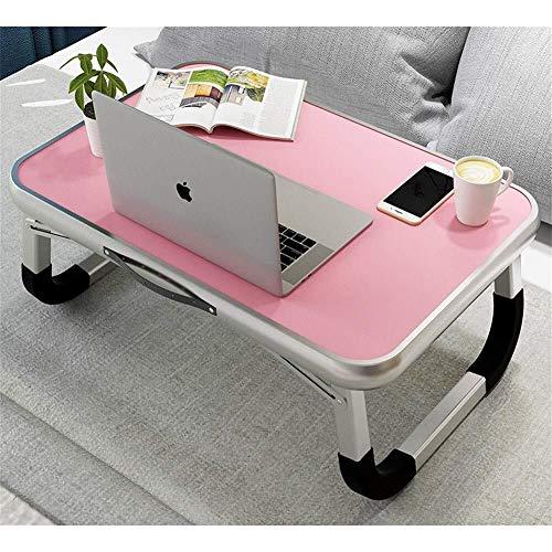 Laptop bureau voor Bed LAPTOP STAND Multifunctionele slaapzaal klaptafel Study Desk Laptop Desk Computer Hoogslaper Tray Portable Laptop Tafel for Eat Breakfast lezen Bekijk Film (Kleur: Blauw, Maat: