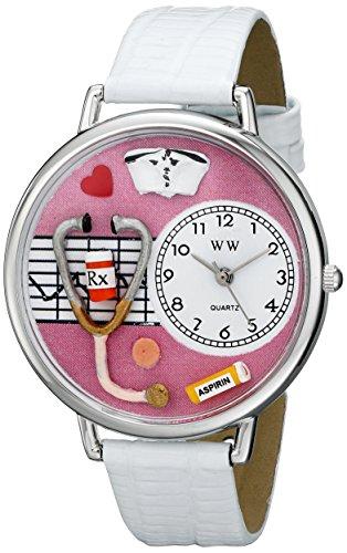 Whimsical Watches Unisex US0620047 Nurse Analog Display Japanese Quartz White Watch
