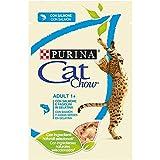 Purina Cat Chow Comida para Gato Adulto Mayores de un año con Salmon 24 x 85 g - 1 Pack