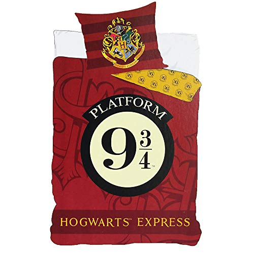 Juego de cama Harry Potter – Funda de edredón 140 x 200 cm funda de almohada 63 x 63 cm