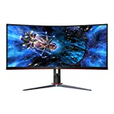 AOC CU34G2X 34' Curved Frameless Immersive Gaming Monitor, UltraWide QHD 3440x1440, VA Panel, 1ms 144Hz Freesync, Height Adjustable, 3-Yr Zero Dead Pixels