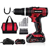 Cordless Drill Driver, Meterk 20V Cordless Electric Drill Driver with 1Pcs Li-Ion Batteries