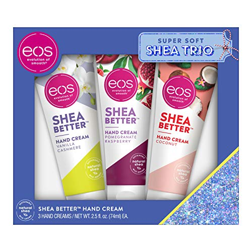 eos Shea Better Hand Cream Gift Set - Variety Pack Natural Shea Butter Hand Lotion and Skin Care 24 Hour Hydration with Shea Butter & Oil 2.5 oz Pack of 3
