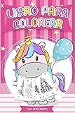 Libro para colorear con Unicornios: Libros colorear niños - Más de 30 diseños hermosos...