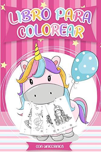 Libro para colorear con Unicornios, Libros colorear niños  - Más de 30 diseños hermosos de Unicornios para Colorear y Divertirse   Plantilla de Unicornio para Colorear