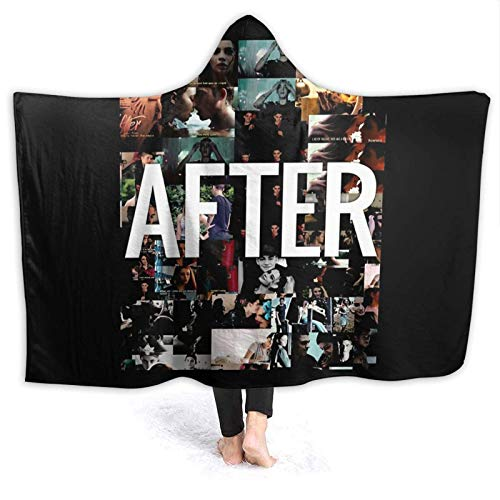XCNGG Manta con capucha Hooded Blanket After Movie Anna Todd Hessa Comfortable Throw Blankets For Four Seasons Anti Pilling Flannel Wearable Blanket Suitable For Sofa Blankets For Adults And Children,