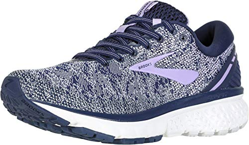 Brooks Womens Ghost 11 Running Shoe - Navy/Grey/Purple Rose - B - 6.0