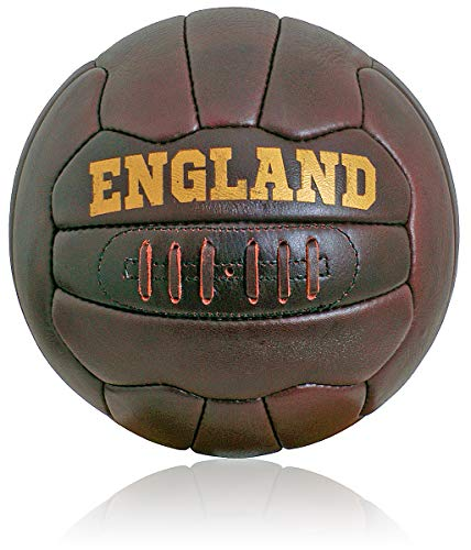 British Sports Museum Nuevo Cuero Antiguo Inglaterra Fútbol Talla 5 Ball Estilo...
