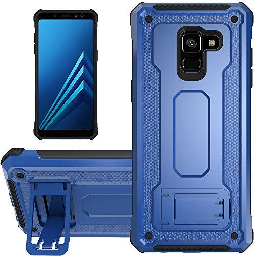 """KUAWEI Coque Samsung Galaxy A8 2018 Slim Armure Series - Lourde Hybride Protège -Corps Complet Étui Protecteur Résistant Aux Chocs avec Housse de Protection Kickstand pour Galaxy A5/A8 5.6"""" (Bleu)"""