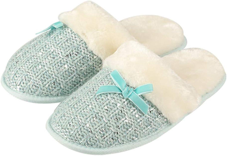 T-JULY Ladies Bowknot House Slippers for Women Cozy Memory Foam Fuzzy Wool-Like Plush Fleece Lined Indoor Outdoor shoes