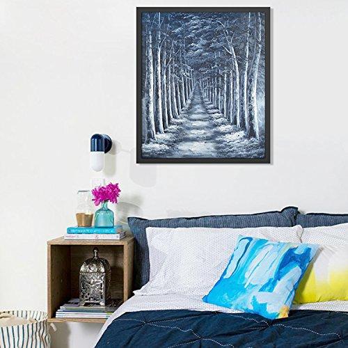 Raybre art tabelle di olio, pittura di paesaggio naturale parete su tela dipinta a Mano di alberi, strade, fiumi, montagne e decorazioni per la casa