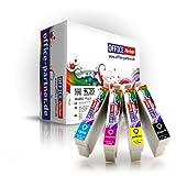 Multipack 20 cartuchos de tinta compatibles para Epson T1285 con la viruta para Epson Stylus Office BX305F / BX305FW; Stylus S22 / SX125 / SX130 / SX235 / SX235W / SX420W / SX425W / SX435W / SX440W / SX445W
