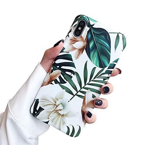 LPZOOOM Coque iPhone XS, iPhone XR Housse Protection Transparente Motif Nature Tropical Imprimé Silicone Gel Souple Protection Absorption Choc Anti-Scratch iPhone XS Etui Case Cover pour iPhone XS MAX