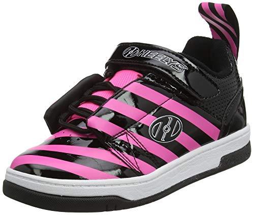 Heelys Mädchen Rift (he100628) Sneaker, Schwarz (Black/Hot Pink/Stripe Black/Hot Pink/Stripe), 34 EU