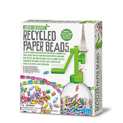 4M Green Creativity Recycled Papierperlen (Anleitung in englisch)